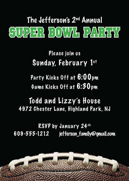 Football Party Invitation / A fun invitation for your Super Bowl or football party.