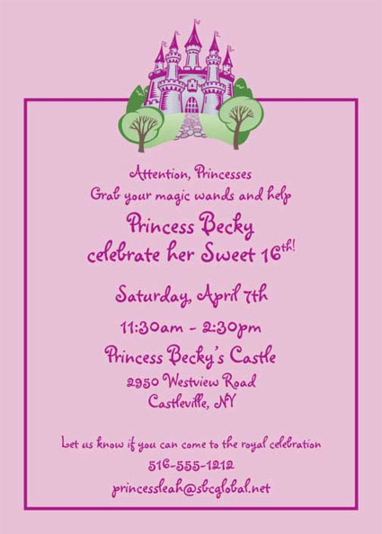 Fairy Tale Princess Invitation