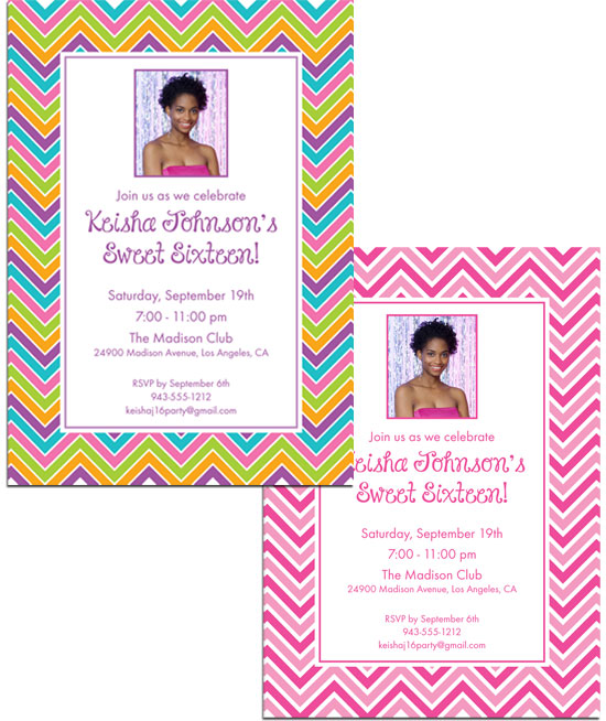 Sweet Zig Zags Invitation / A little retro!