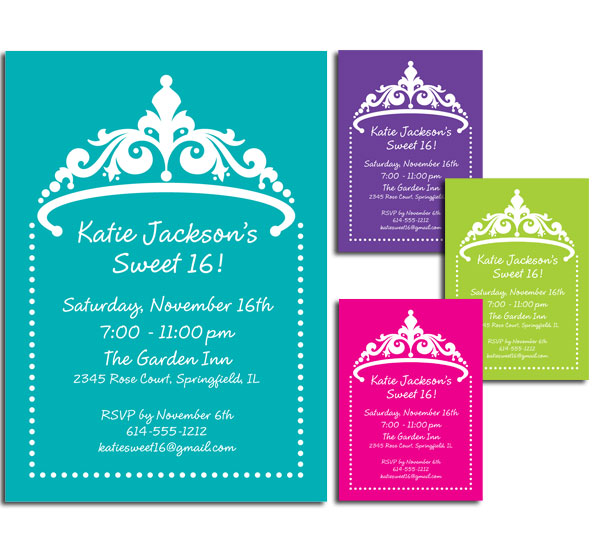 Tiara Invitation / For a tonier celebration.