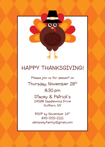 Thanksgiving Celebration Invitation / Personalize it for your Thanksgiving or Fall Themed Party.