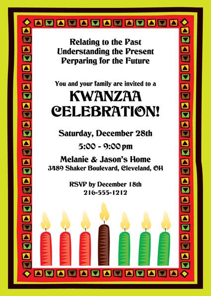 Kwanzaa Kinara Invitation