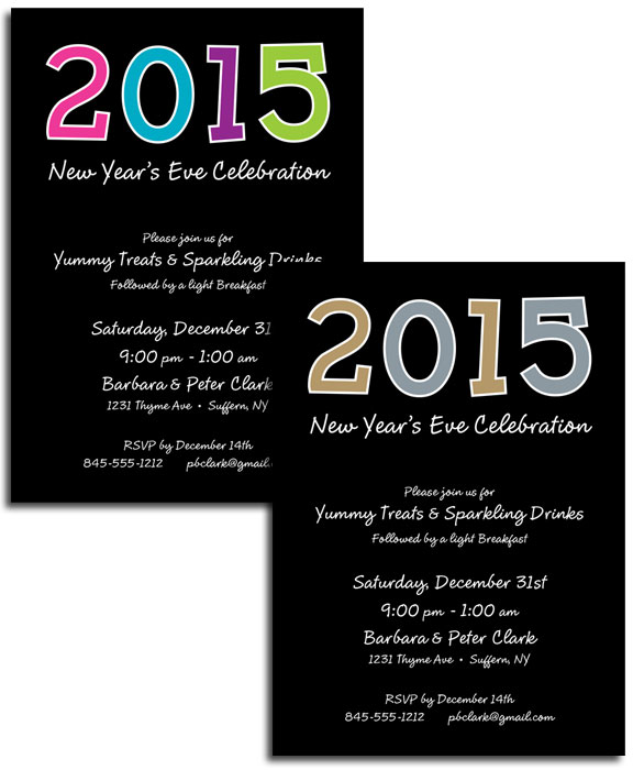 2015 New Year's Celebration Invitation