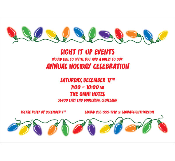 Christmas Lights Invitation / A great Christmas lights theme invitation