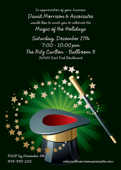 Holiday Magic Invitation – Magic Party Invitations
