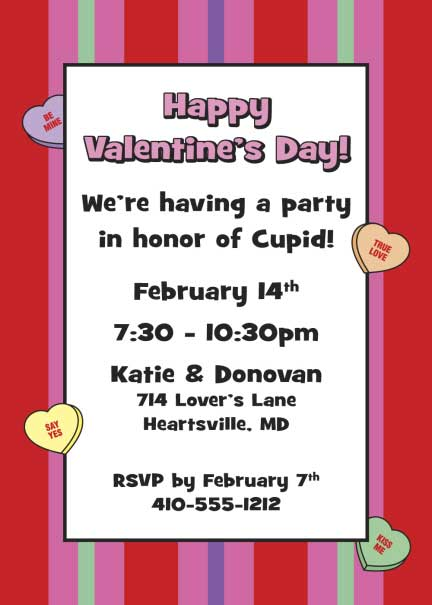 A Valentines Day Party Invitation / Great Valentine's Party Invitation.