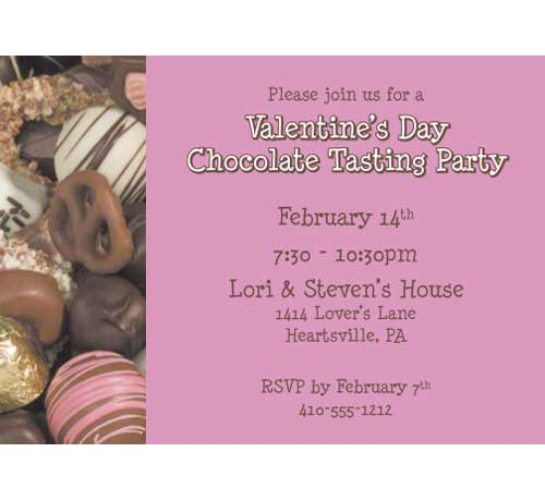 Valentines Day Chocolates Invitation / Give chocolates with this Valentine's Day Invitation.