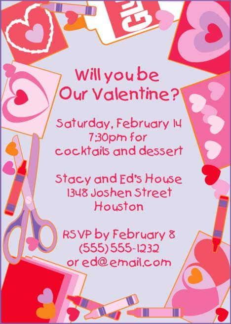 Valentines Day Kids Invitation / Create Valentine's Day cards for friends with this invitation.