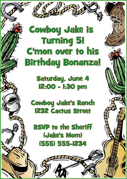 Western Theme Invitation / You'll lasso in some friends with this invite.