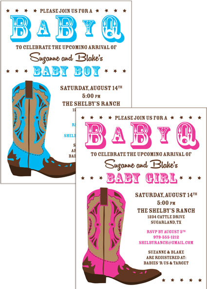 Western Baby Invitation / A fun baby shower invitation for a Western theme shower