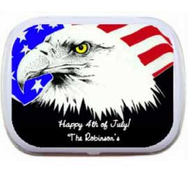 Patriotic Eagle Mint and Candy Tin