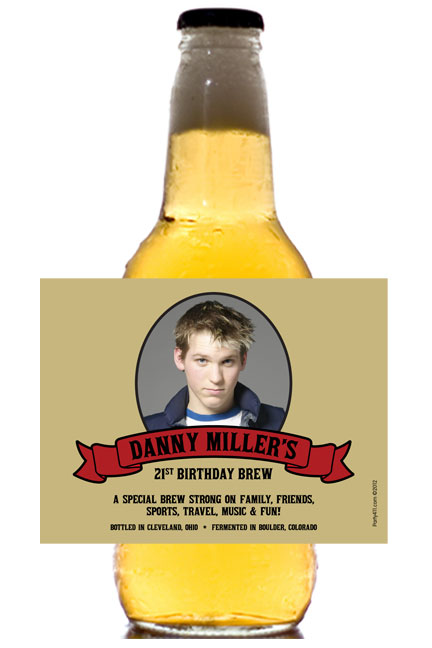 Birthday Photo Theme Beer Bottle Label / A perfect beer label for your milestone celebration!
