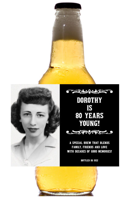 A Vintage Birthday Milestone Photo Label, Beer