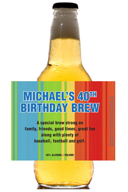 Birthday Celebrate Theme Beer Bottle Label