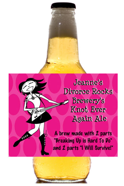 Divorce Beer Bottle Labels / Pass out beer with custom labels as you celebrate your divorce