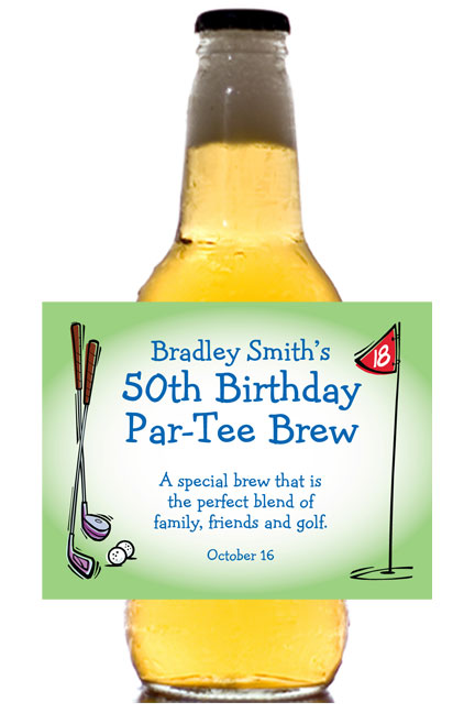 Golf Party Theme Beer Bottle Label / Perfect for the 19th hole!