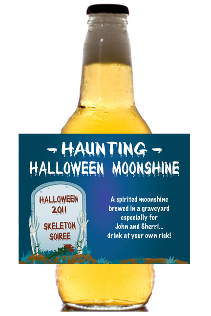 Halloween Grave Theme Beer Bottle Label / This is great for your theme party
