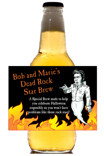 Halloween Rock Star Theme Beer Bottle Label / Don't you think a rock star deserves their own label?