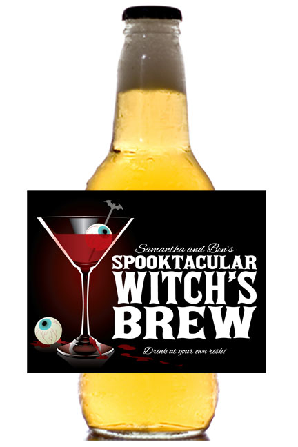 Spooky Spirits Theme Beer Bottle Label