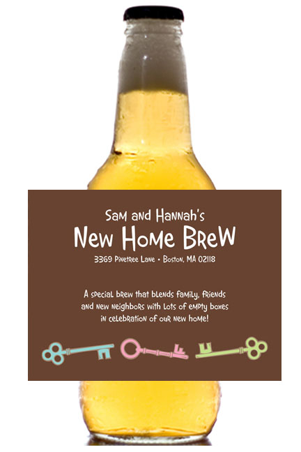 Housewarming Theme Label - Beer Bottle / This personalized label is great for your housewarming party