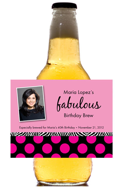 A Fabulous Party Theme Beer Bottle Label