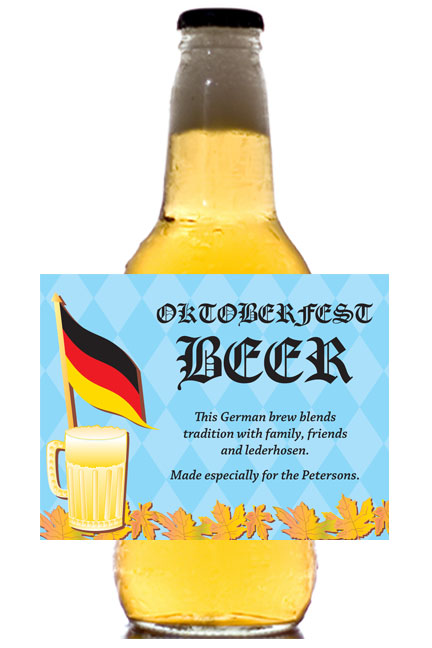 Oktoberfest Party Theme Beer Bottle Label