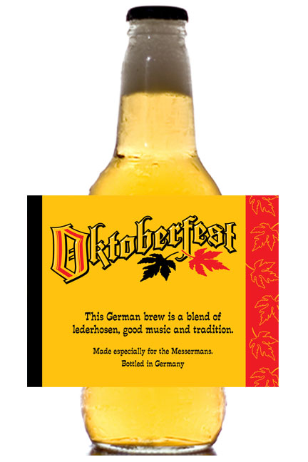 Oktoberfest Festival Theme Beer Bottle Label