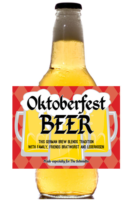 Oktoberfest Beer Theme Beer Bottle Label