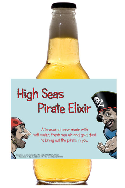 Pirate Theme Beer Bottle Label / Aye Aye a delicious Pirate party favor