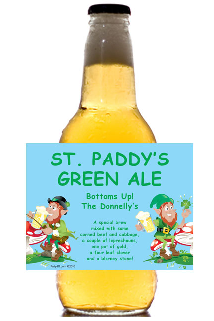 St. Patricks Day Party Theme Label - Beer Bottle / These personalized beer bottle labels are great for your St. Pat's Day Party