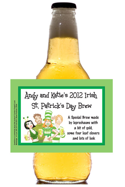 St. Patricks Day Pub Theme Beer Bottle Label / This personalized beer bottle label is a great addition to your St. Patrick's Day party
