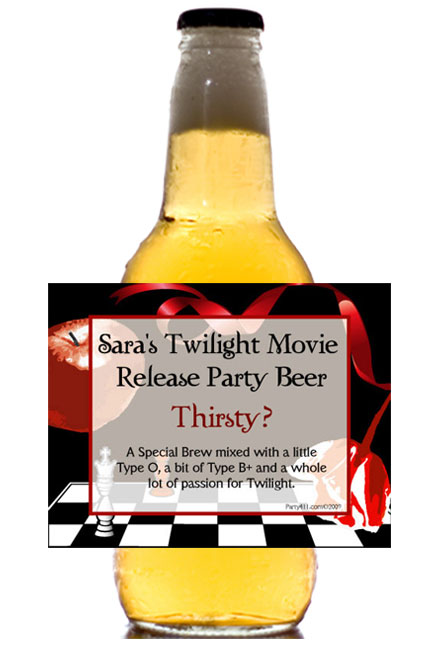 Twilight Beer Bottle Labels / Bella and Edward would love their own beer
