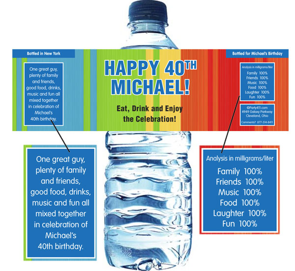 A personalized bottle of water works!