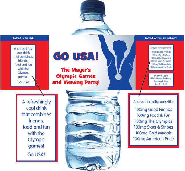 Olympics Water Bottle Label / A great Olympic party favor