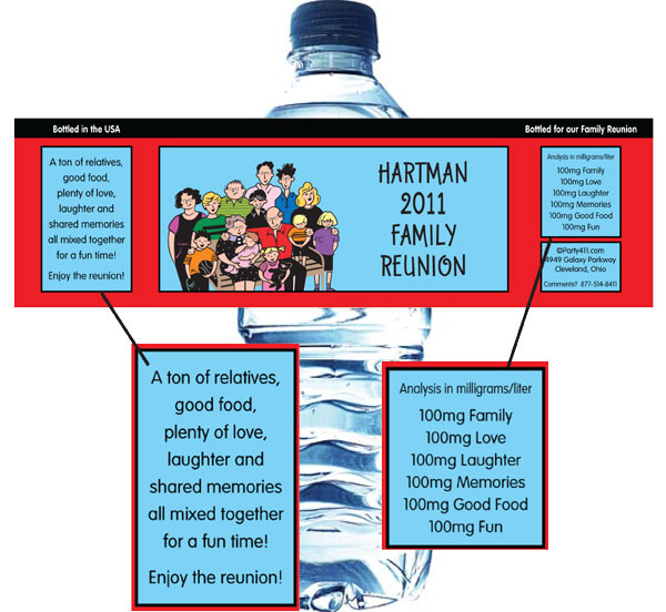 A Reunion Water Bottle Label