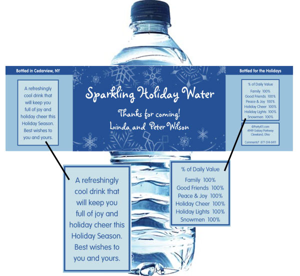 Winter Theme Water Bottle Label / This theme water bottle label is a perfect addition to your party