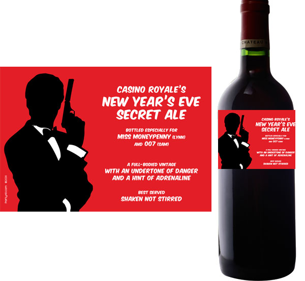 Casino Royale Wine Champagne Bottle Label / This personalized label is a great addition to your theme party