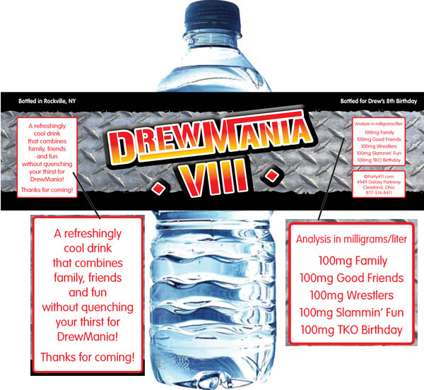 Wrestling Party Water Bottle Label / This water bottle label will be great for your wrestling party