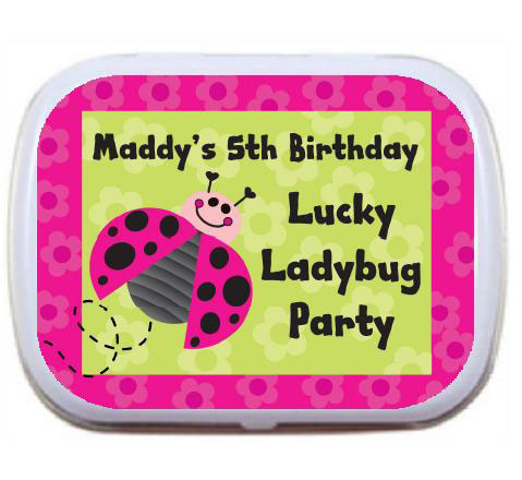 Ladybugs Theme Mint Tin / An adorable candy filled favor