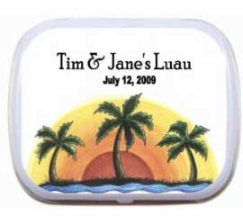 Mint Tin, Luau Palm Trees Theme / A sweet mint tin for your luau
