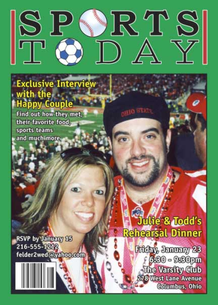 Sports Magazine Cover Invitation