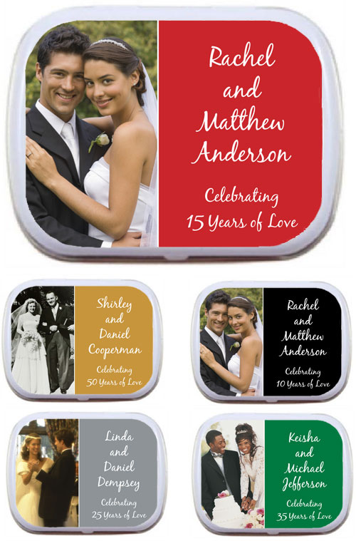 Anniversary Heart Photo Theme Mint Tin