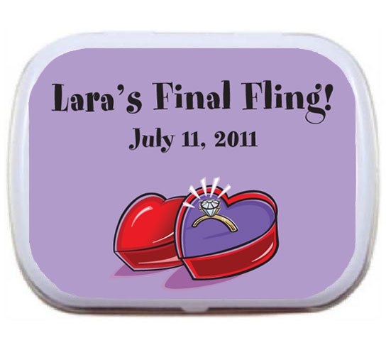 Engagement Ring Mint Tin