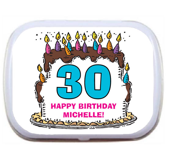 Birthday Cake For Her Mint Tin / A Sweet Birthday Party FavorFor Her
