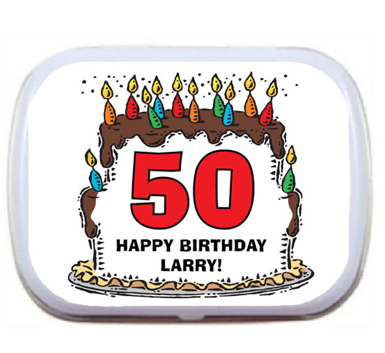 Birthday Cake For Him Mint Tin / A Sweet Birthday Party Favor For Him