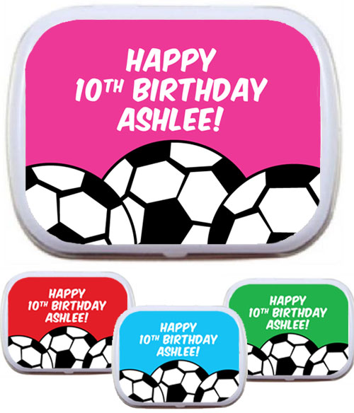 Soccer Mint Tin, Pick a Color