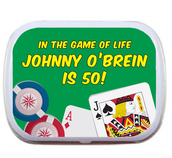 Casino Cards Party Theme Mint Tin
