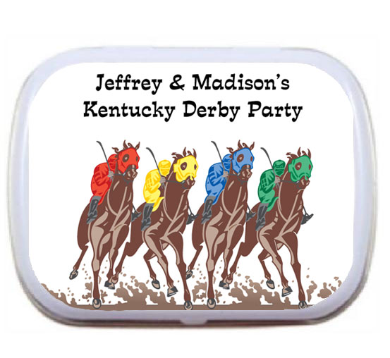 Kentucky Derby Party Mint and Candy Tin