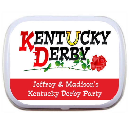 Kentucky Derby Horseshoe Theme Mint and Candy Tin / Kentucky Derby theme mint tins