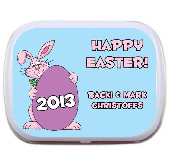 Easter Bunny Theme Party Mint Tin